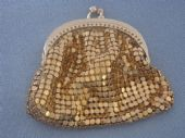 Miniature Mesh Purse - 1950s - 1960s Gold Purse - West German(SOLD)